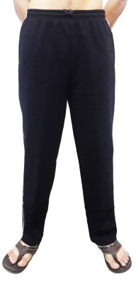 Bluedge Solid Men,s Black Track Pants