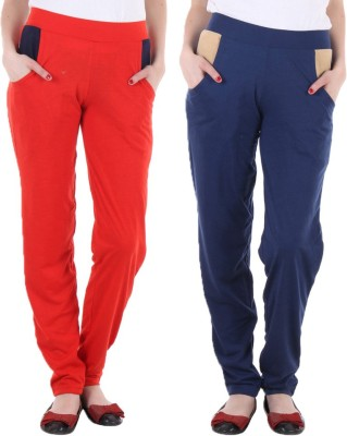 Coaster Solid Women's Red, Blue Track Pants