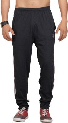 Vego Solid Men's Black Track Pants