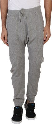 Being Human Solid Men's Grey Track Pants