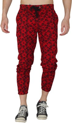 HASH TAGG Self Design Men's Red Track Pants