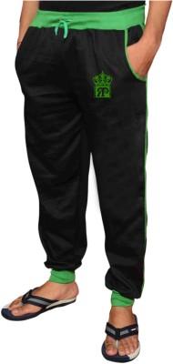 Royal Premium Self Design Men's Black, Green Track Pants