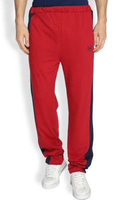 Difference of Opinion Solid Men's Red Track Pants
