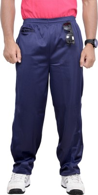 Chakravarthi Solid Men's Dark Blue Track Pants