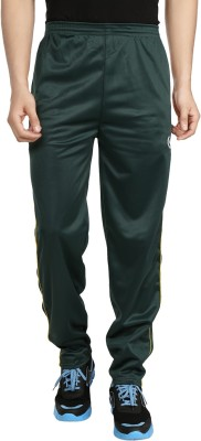 Custom Creation Solid Men's Green Track Pants
