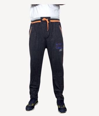 NGT Embroidered Men's Black Track Pants