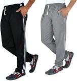 Elexa Solid Men's Black, Grey Track Pant...