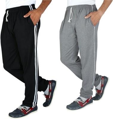 Elexa Solid Men's Black, Grey Track Pants