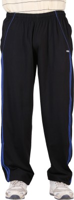 NCI Striped Men's Black Track Pants