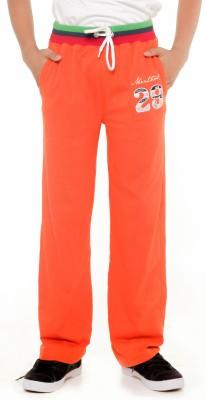 Menthol Fashion Printed Boy's Orange Track Pants