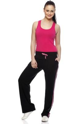 Gritstones Solid Women's Black, Pink Track Pants
