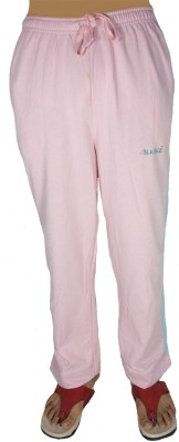 Bluedge Fashion Solid Women,s Pink Track Pants