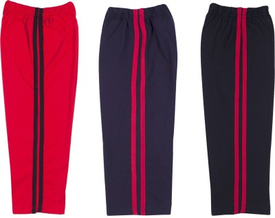 Hunny Bunny Solid Baby Boy's Black, Blue, Red Track Pants