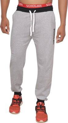 SCHOLAR Solid Men's Grey Track Pants