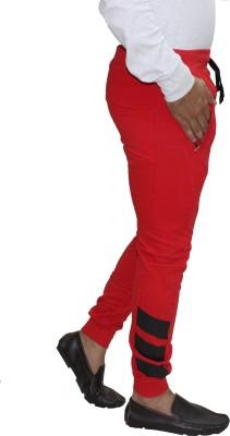Body Tantrum Solid Men,s Red Track Pants