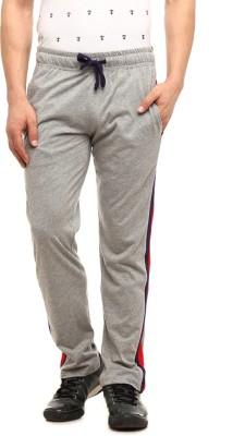 Gritstones Solid Men's Grey Track Pants
