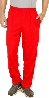 T10Sports Cricket Solid Men's Red Track Pants