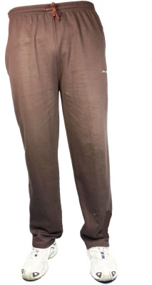 Bluedge Solid Men,s Brown Track Pants
