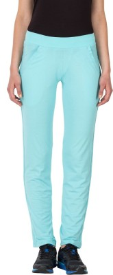 Lovable Solid Women's Blue Track Pants