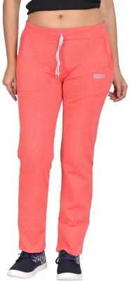 Be You Solid Women's Orange Track Pants at flipkart
