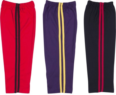 Hunny Bunny Solid Baby Boy's Red, Purple, Black Track Pants