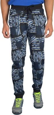London Eye Graphic Print Men's Black, Blue Track Pants
