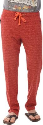 YOO Solid Men's Orange Track Pants