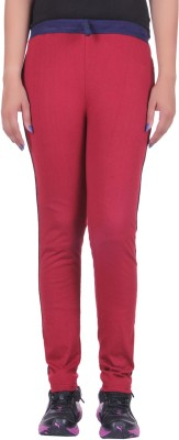 DFH Solid Women's Red Track Pants at flipkart