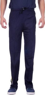Sprig Striped, Solid Men's Dark Blue Track Pants