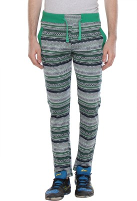 Glasgow Self Design Men's Light Green Track Pants