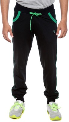 Sports 52 Wear Solid Men's Black, Green Track Pants