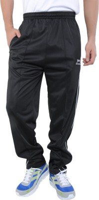 Shiv Naresh Sporty Look Solid Men's Black Track Pants