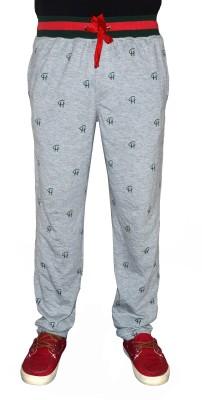 Crux&Hunter Printed Men's Grey Track Pants