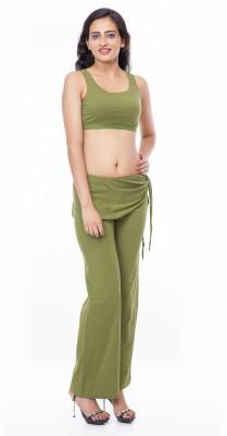 Eurodif Design Solid Women's Green Track Pants