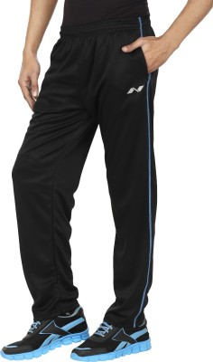 Orizzonti Solid Men's Black Track Pants