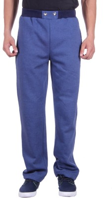 Deutz Solid Men's Light Blue Track Pants