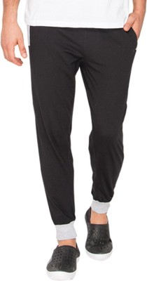 Campus Sutra Solid Men's Black Track Pants