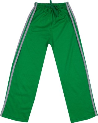 Hunny Bunny Solid Girl's Green Track Pants