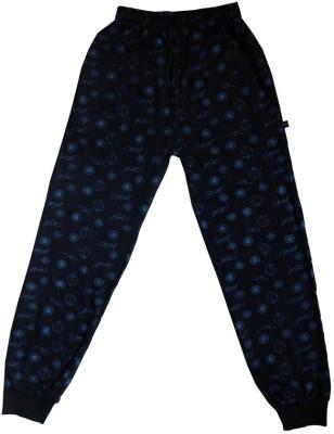 Ice Printed Boy's Dark Blue Track Pants