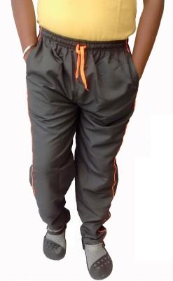 Mode Solid Men's Grey Track Pants