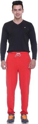 FREE RUNNER Striped Men's Red Track Pants