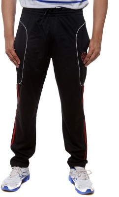 Sports 52 Wear T1295 Solid Men's Black, Red Track Pants