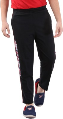 Fizzi Pro Solid Boys Black Track Pants
