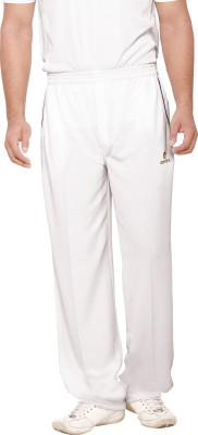 Omtex JW Solid Men,s White Track Pants