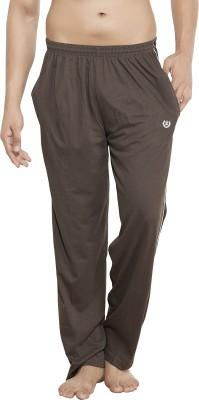 AJC Solid Men's Brown Track Pants