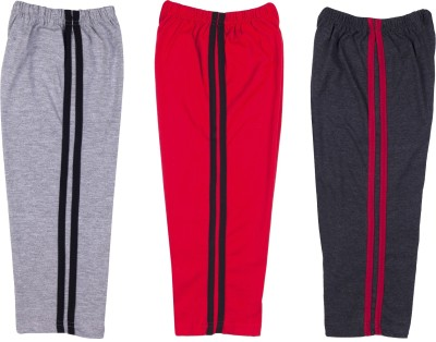 Hunny Bunny Solid Baby Boy's Grey, Red, Black Track Pants