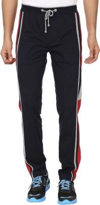 Keewi Simple Solid Men,s Dark Blue, Red Track Pants