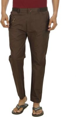 Leg-In Solid Men's Brown Track Pants