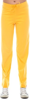 Virsa Show Off Solid Men's Yellow Track Pants