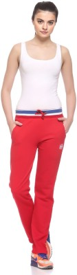 EX10SIVE Solid Women's Red Track Pants